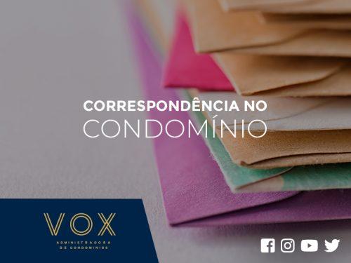 Correspondência no condomínio - Vox Administradora