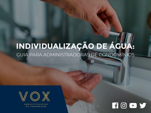Individualização de água - Administradora de condomínios