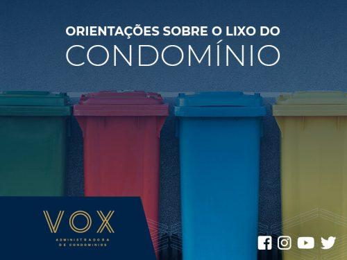Lixo do condomínio - orientações