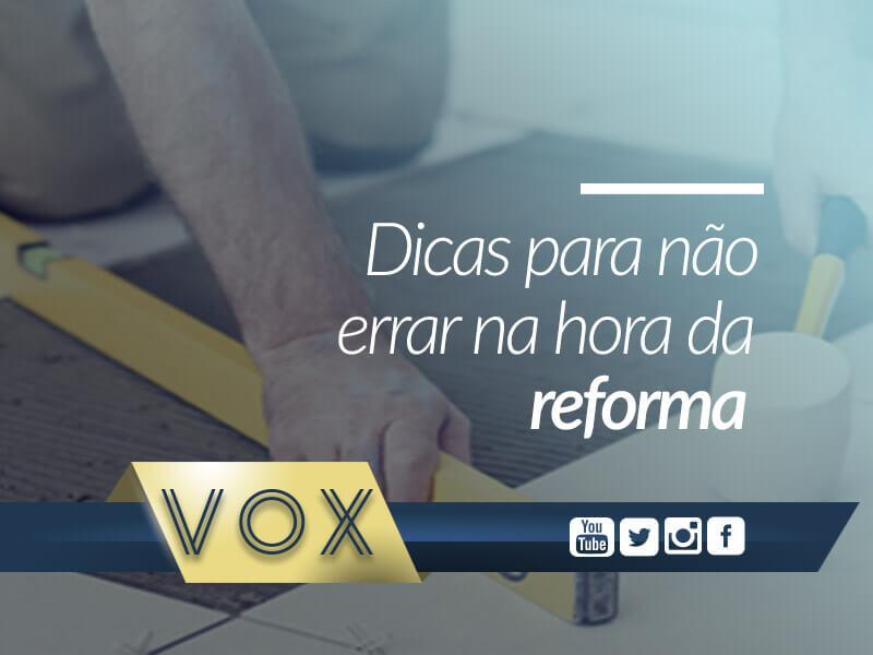 Reforma em condomínio - Vox Administradora de Condomínios